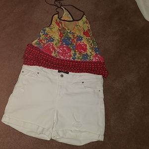 Liverpool Jean Company White Shorts